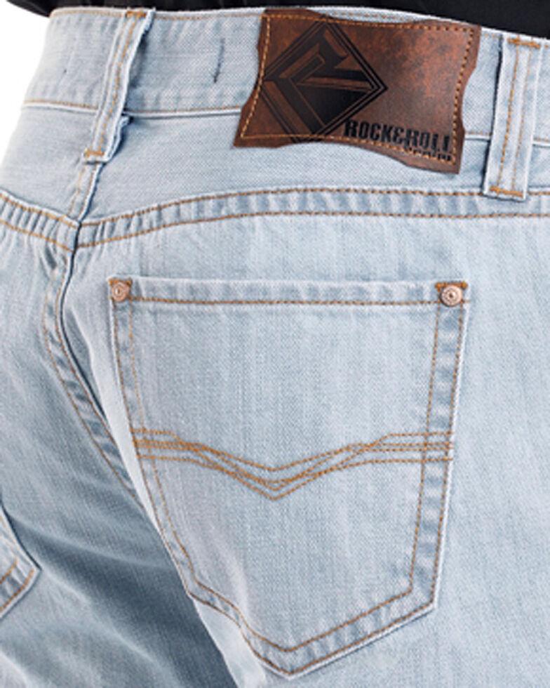 Rock & Roll Cowboy Men's Light Blue Double Barrel Jeans - Straight Leg , Light Blue, hi-res