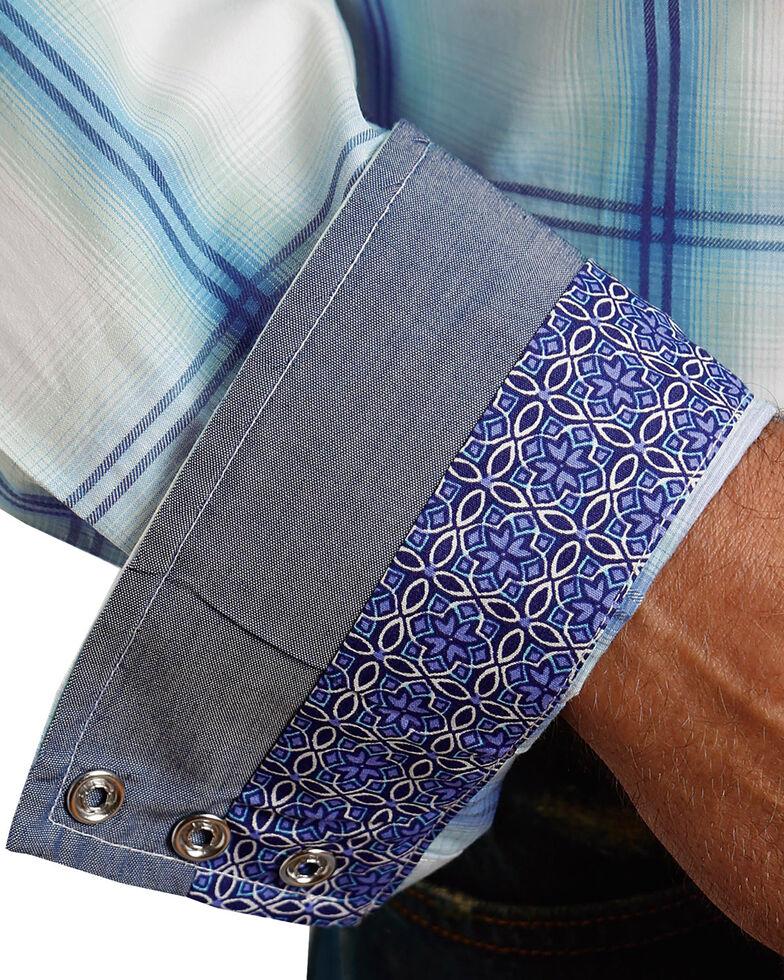 Stetson Men's Blue Double Pane Ombre Plaid Shirt , Blue, hi-res