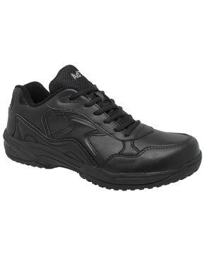 Ad Tec Men's Athletic Black Uniform Work Shoes - Composite Toe, Black, hi-res