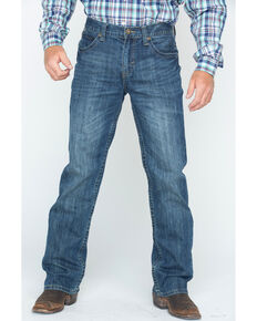 Cody James Men's Dark Wash Slim Bootcut Jeans , Blue, hi-res