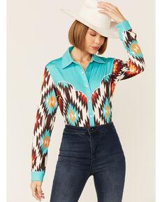 Ranch Dress'n Women's Aztec Shirt , Multi, hi-res