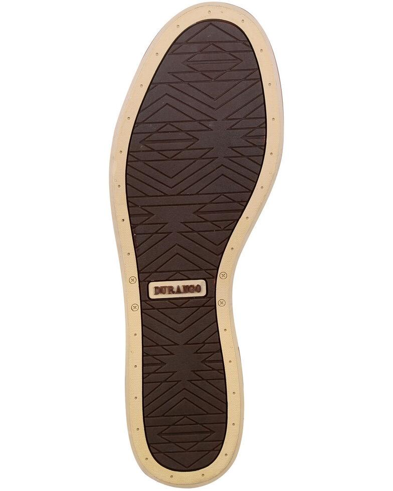 Durango Men's Desert Sand Music City Faux Elephant Boat Shoes - Moc Toe, Distressed Brown, hi-res