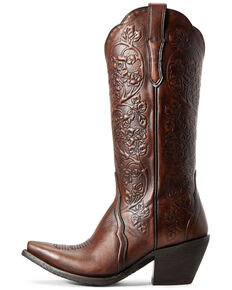 Ariat Women's Platinum Rich Cognac Western Boots - Snip Toe, Brown, hi-res
