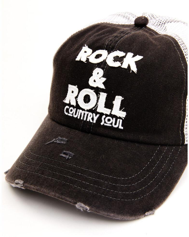 Idyllwind Women's Rock & Roll Country Soul Mesh Ball Cap , Black, hi-res