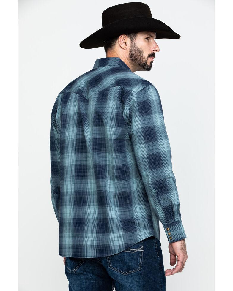 Pendleton Men's Frontier Long Sleeve Plaid Shirt , Light Blue, hi-res
