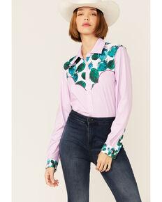 Ranch Dress'n Women's Cactus Shirt, Pink, hi-res