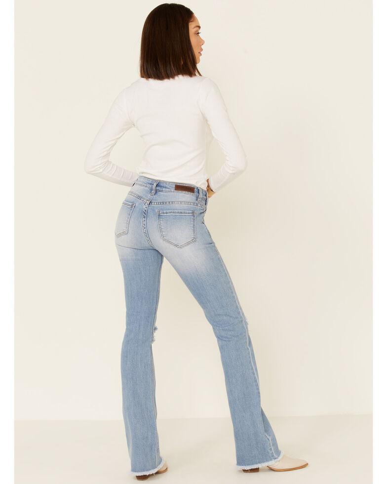 Rock & Roll Denim Women's Distressed Bootcut Jeans, Blue, hi-res