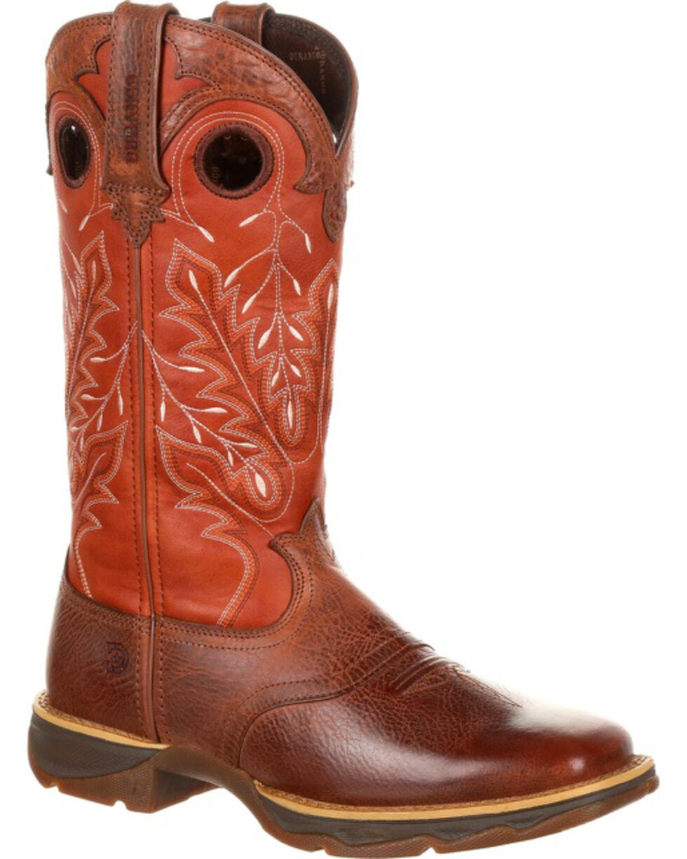 Lady Rebel by Durango Women's Brown Western Boots - Square Toe , Brown, hi-res