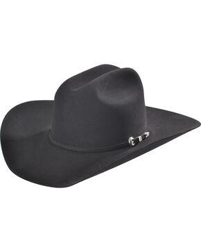 Rodeo King Men's Black 10X Low Rodeo Felt Cowboy Hat, Black, hi-res