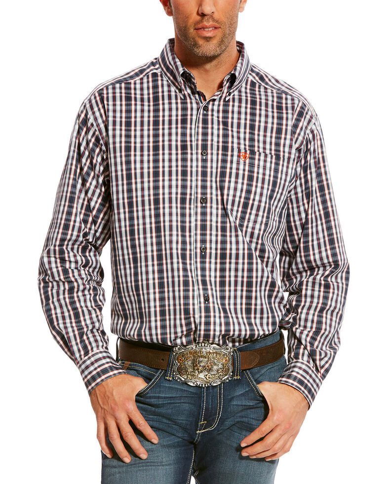 Ariat Men's Blue Caidwell Plaid Shirt , Blue, hi-res