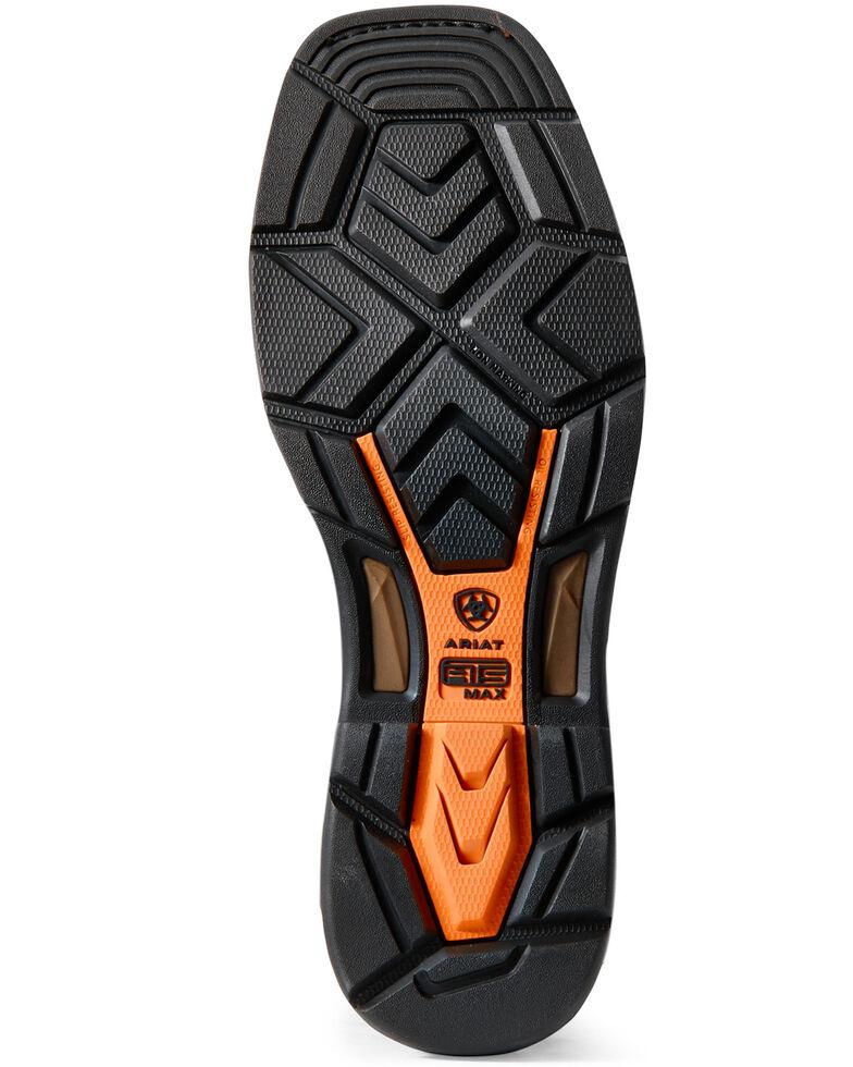 Ariat Men's Workhog Side Zip Waterproof Work Boots - Carbon toe, Brown, hi-res