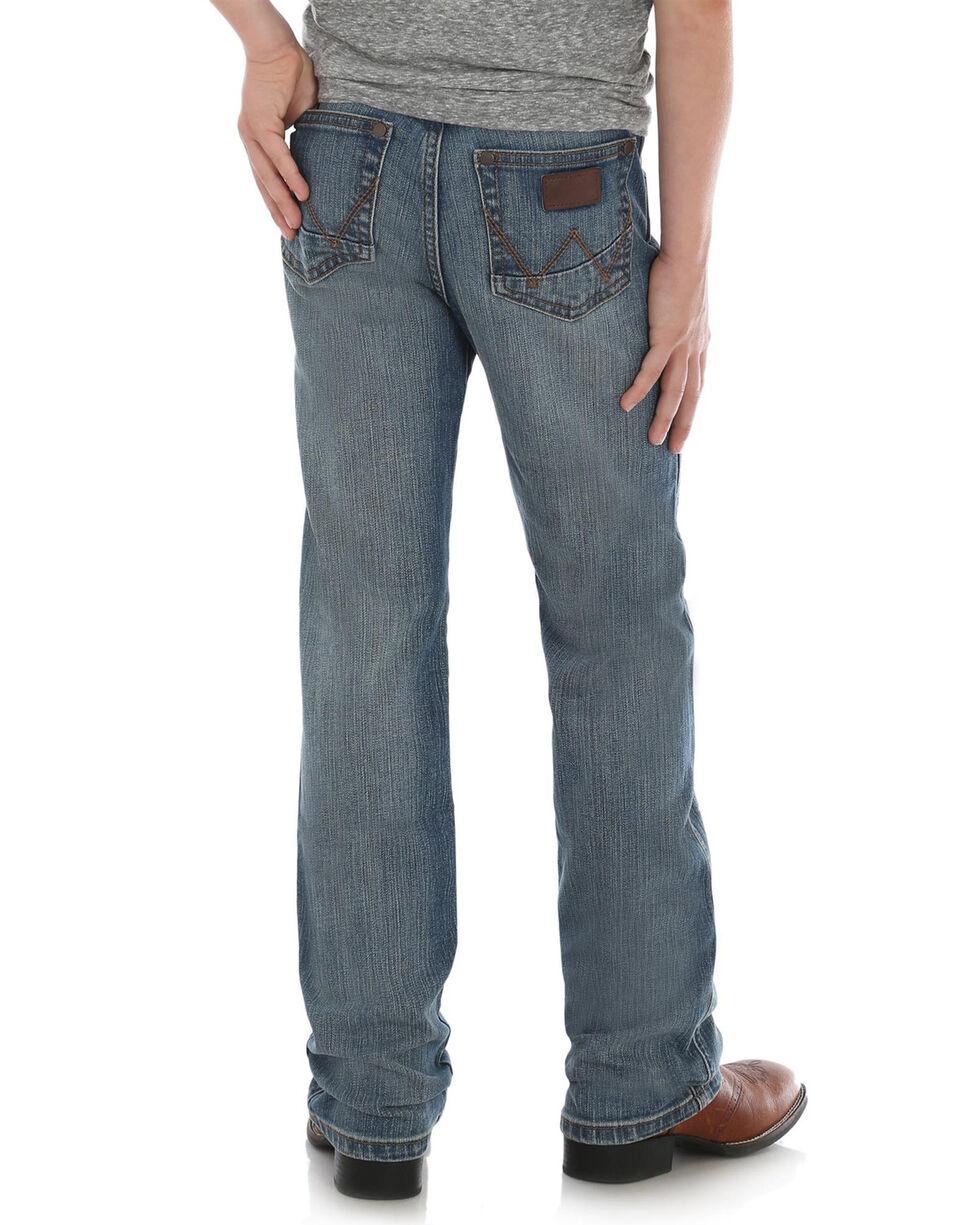 Wrangler Retro Boys' Slim Straight Callahan Stretch Jeans, Blue, hi-res