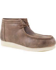 Roper Men's Smokey Brown Gum Sole Chukkas, Brown, hi-res