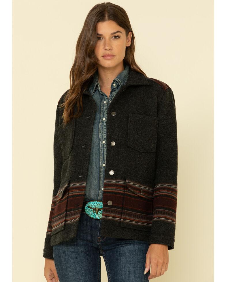 Pendleton Women's Santa Rosa Western Horizons Wool Coat , Black, hi-res
