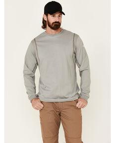 Ariat Men's Grey FR Crew Neck Long Sleeve T-Shirt, Grey, hi-res
