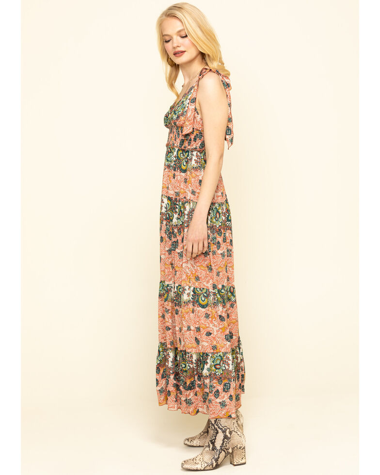 Free People Women's Let's Smock About it Maxi Dress, Red, hi-res