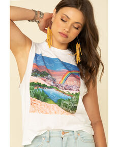 Wrangler Modern Women's White Rainbow Graphic Tank Top, White, hi-res