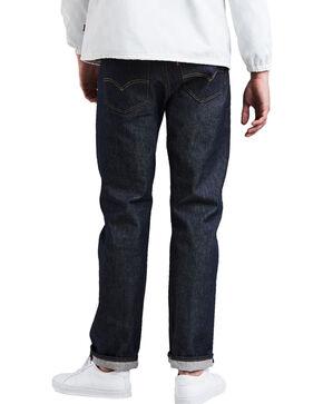 Levis Men's 501 Shrink-To-Fit Straight Stretch Jeans - Big , Indigo, hi-res
