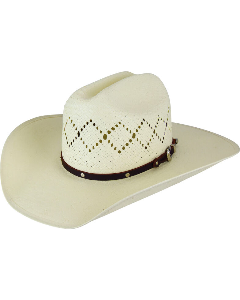 Bailey Men's Hoxie 7X Cattleman Straw Hat, Natural, hi-res