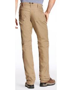 Ariat Men's Rebar M4 Stretch Canvas 5 Pocket Straight Leg Pants - Big , Beige/khaki, hi-res