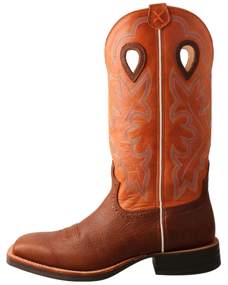 Twisted X Men's Brown Ruff Stock Western Boots - Wide Square Toe, Brown, hi-res