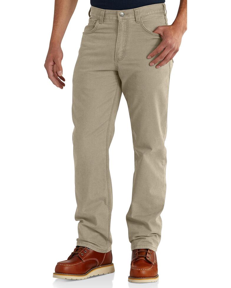 Carhartt Men's Rugged Flex® Rigby Five-Pocket Jeans, Tan, hi-res