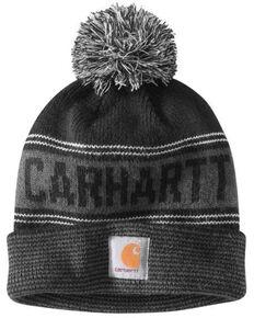 Carhartt Men's Searchlight Pom Work Beanie, Black, hi-res