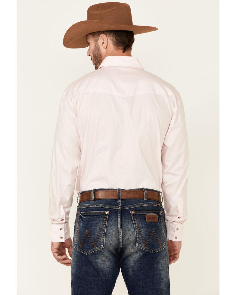Roper Men's Amarillo Collection Solid Long Sleeve Western Shirt, Pink, hi-res
