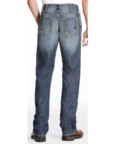 Ariat Men's FR M4 Inherent Boundary Low Rise Boot Cut Jeans - Big, Dark Blue, hi-res