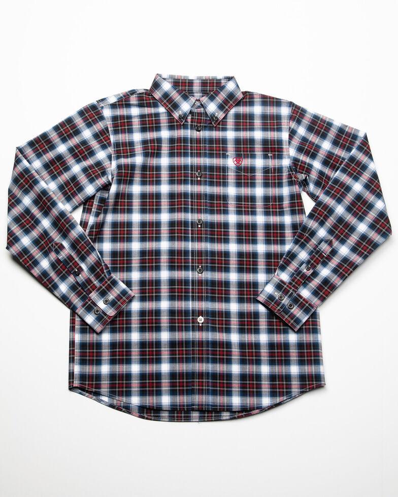 Ariat Boys' Dannon Stretch Plaid Long Sleeve Western Shirt , Multi, hi-res