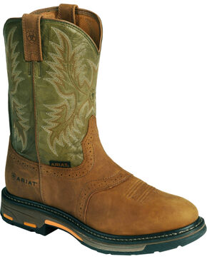 Ariat Workhog Western Work Boots - Composite Toe, Bark, hi-res