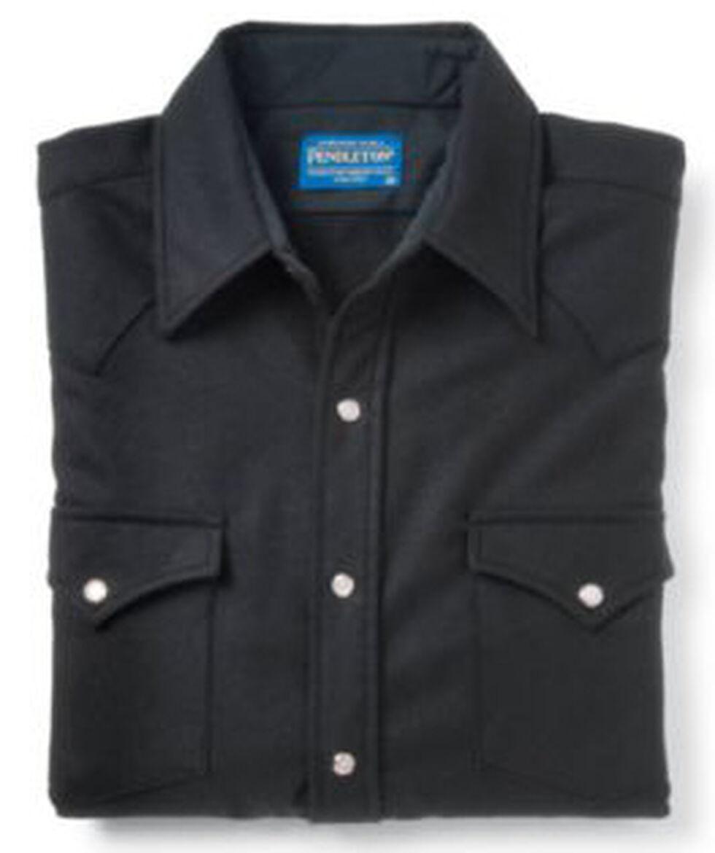 Pendleton Men's Western Wear Wool Canyon Shirt , Black, hi-res