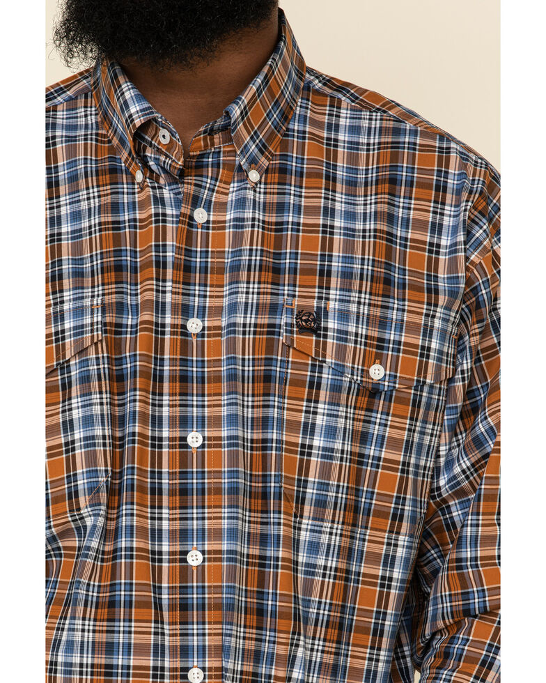 Cinch Men's Multi Med Plaid Double Pocket Long Sleeve Western Shirt , Multi, hi-res