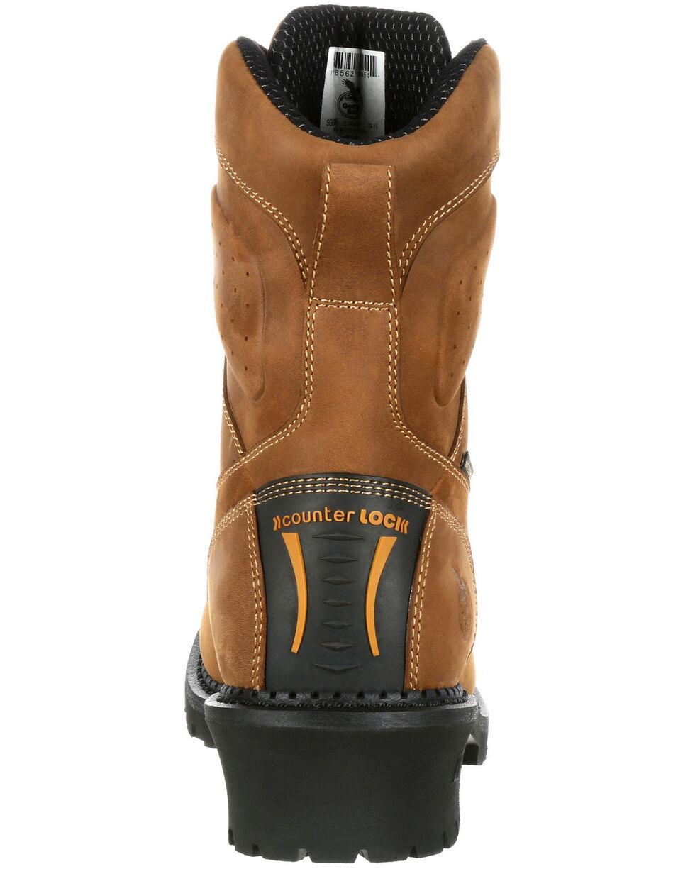 Georgia Boot Men's Comfort Core Waterproof Logger Boots - Composite Safety Toe, Brown, hi-res