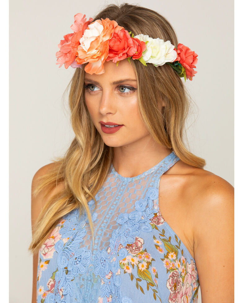 Shyanne Women s Floral Bouquet Flower Crown - Country Outfitter 54a462229ab