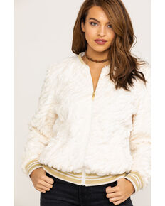 Ariat Women's Lady Luck White Sands Bomber Jacket , White, hi-res