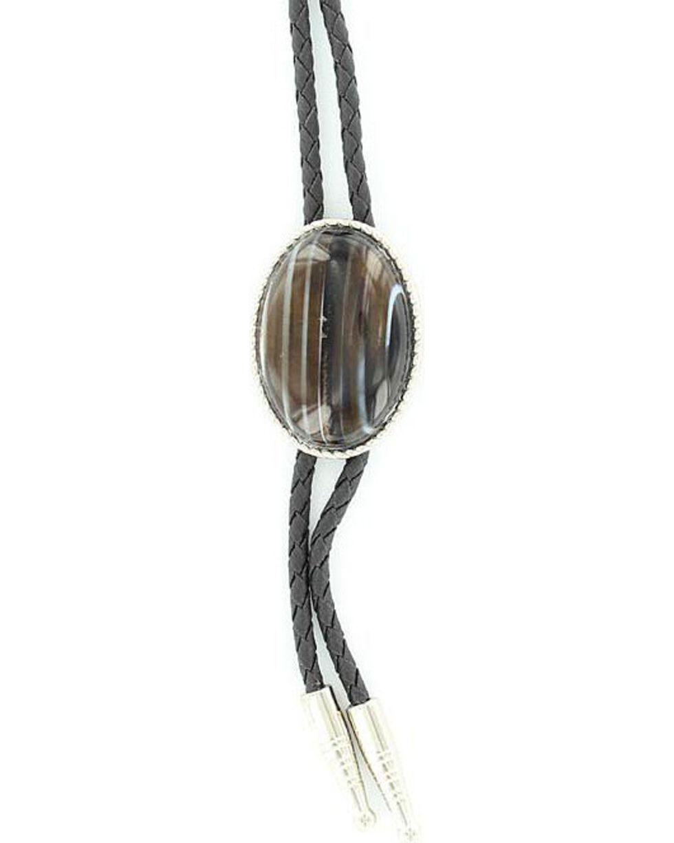 Artificial Sardonyx Stone Bolo, Black, hi-res