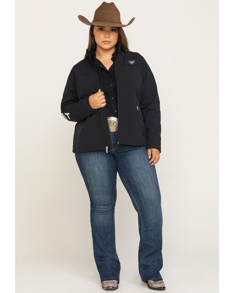 Ariat Women's Softshell Team Jacket  - Plus, Black, hi-res