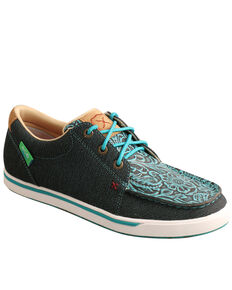 Twisted X Women's Dark Teal Casual Shoes - Moc Toe, Teal, hi-res