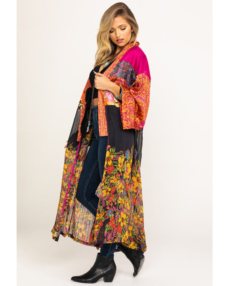 Free People Women's The Young Love Kimono, Rust Copper, hi-res