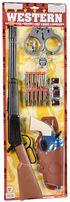 Kids' Western Rifle & Pistol Set, Brown, hi-res