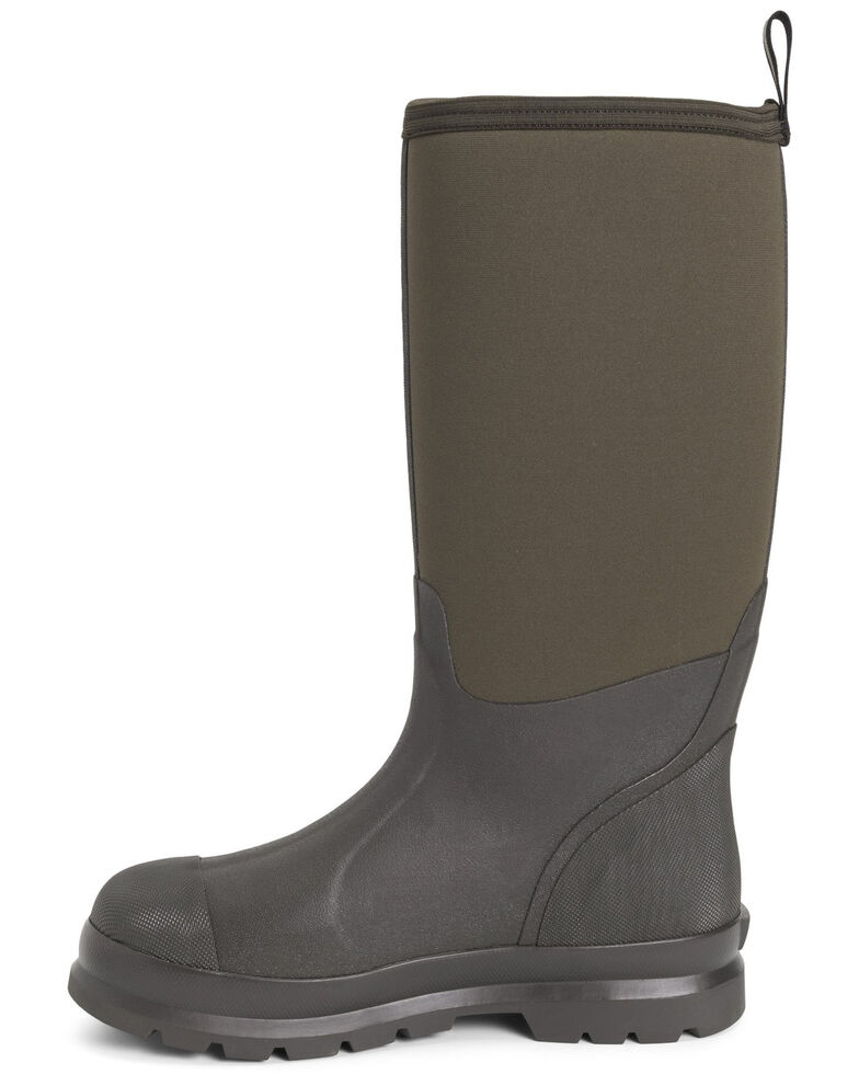 Muck Boots Men's Chore Rubber Boots - Round Toe, Brown, hi-res