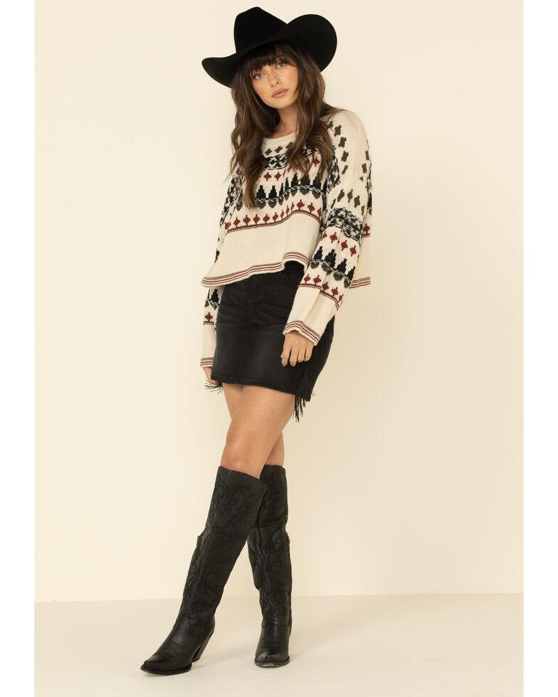 Sadie & Sage Women's Cream Thousand Mile Pullover Sweater, Cream, hi-res