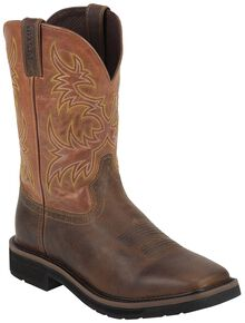 Justin Men's Stampede Switch Work Boots - Soft Toe, Tan, hi-res