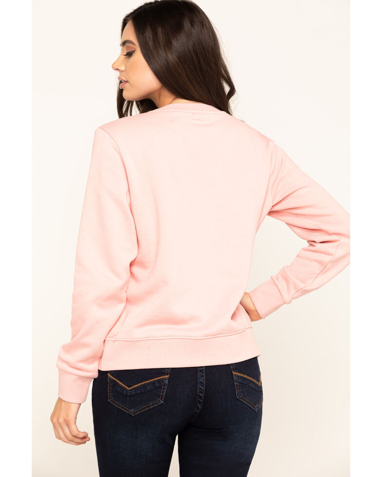 Wrangler Modern Women's Logo Sweatshirt, Pink, hi-res