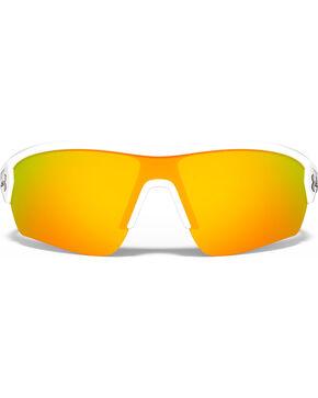 Under Armour Rival Satin White and Orange Lens Sunglasses , White, hi-res