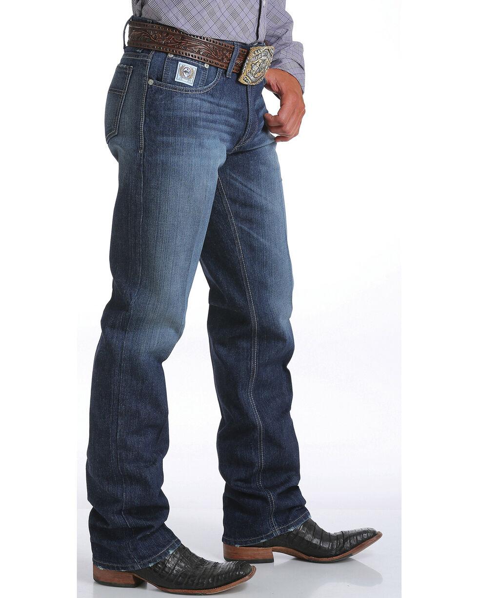 Cinch Men's White Label Dark Stonewash Jeans - Straight Leg, Indigo, hi-res