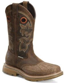 Double-H Men's Carlos Waterproof Western Work Boots - Composite Toe, Tan, hi-res