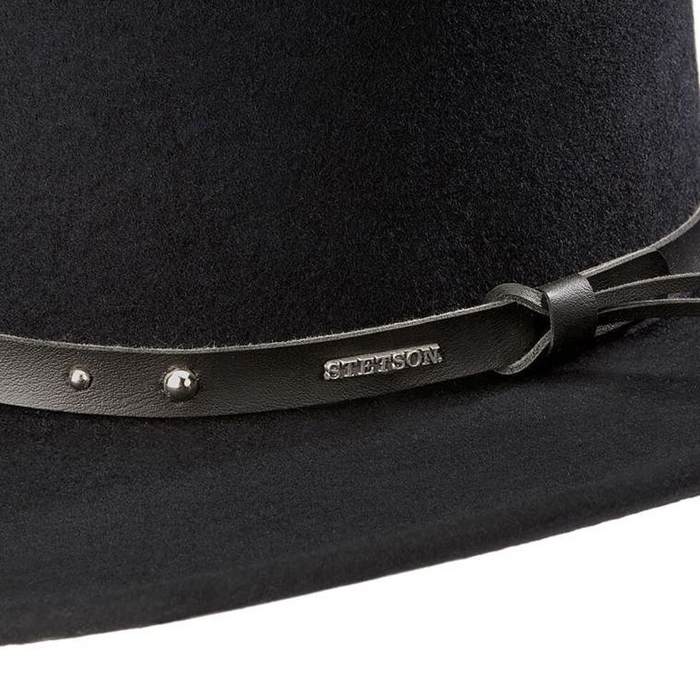 Stetson Black Hawk Crushable Wool Felt Gambler Hat