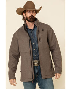 Cinch Men's Brown Wool Blend Jacket , Brown, hi-res